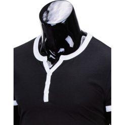 T-SHIRT MĘSKI BEZ NADRUKU S651 - CZARNY. Czarne t-shirty męskie z nadrukiem Ombre Clothing, m. Za 29,00 zł.