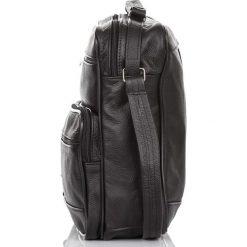 TORBA MĘSKA LISTONOSZKA ABRUZZO DO PRACY. Czarne torby na ramię męskie Abruzzo, w paski, na ramię. Za 89,90 zł.