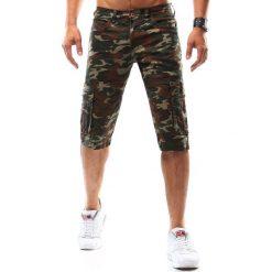 Spodenki męskie camo zielone (sx0532). Zielone odzież rowerowa męska marki Dstreet, na lato, z bawełny. Za 49,99 zł.