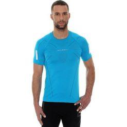 Brubeck Koszulka męska SS11090 Brubeck lazurowa r. S. Niebieskie koszulki sportowe męskie marki Brubeck, m. Za 109,99 zł.