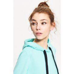 Bluzy rozpinane damskie: Bluza kangurka - Niebieski