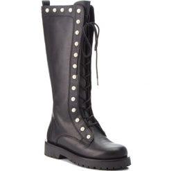 Kozaki TWINSET - Anfibio CA8PQN Nero 00006. Czarne buty zimowe damskie marki Kazar, ze skóry, na wysokim obcasie. Za 1539,00 zł.