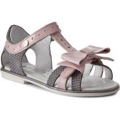 Sandały dziewczęce: Sandały BARTEK – 16182-1G7 Szaro Różowy