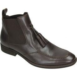 Sztyblety męskie: obuwie a722 brąz