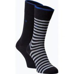 Calvin Klein - Skarpety męskie pakowane po 2 szt., niebieski. Niebieskie skarpetki męskie marki Calvin Klein, z bawełny. Za 59,95 zł.