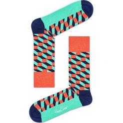 Happy Socks - Skarpetki Filled Optic. Szare skarpetki męskie Happy Socks, z bawełny. W wyprzedaży za 29,90 zł.