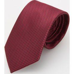 Krawaty męskie: Bordowy krawat – Czerwony