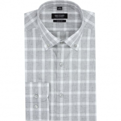 Koszula versone 2743 długi rękaw slim fit szary. Szare koszule męskie slim marki Recman, na lato, l, w kratkę, button down, z krótkim rękawem. Za 149,00 zł.