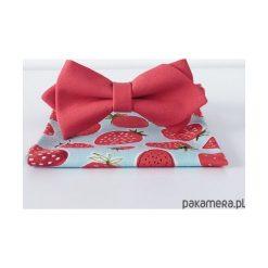 Malina Shake. Malinowa mucha + poszetka. Różowe muchy męskie Pakamera, eleganckie. Za 119,00 zł.