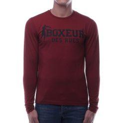 BOXEUR Koszulka długi rękaw bordowa r.M (BXE-2809F). Czerwone koszulki sportowe męskie BOXEUR, m. Za 91,87 zł.