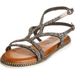 Rzymianki damskie: Sandały w kolorze antracytowym