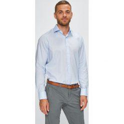 Pierre Cardin - Koszula. Szare koszule męskie na spinki marki Pierre Cardin, z bawełny, z klasycznym kołnierzykiem, z długim rękawem. W wyprzedaży za 219,90 zł.