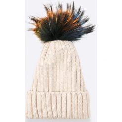 Answear - Czapka Blossom Mood. Szare czapki zimowe damskie ANSWEAR, na zimę, z dzianiny. W wyprzedaży za 39,90 zł.