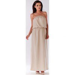 Beżowa Maxi Sukienka z Odkrytymi Ramionami. Niebieskie długie sukienki marki Reserved, z odkrytymi ramionami. Za 129,90 zł.