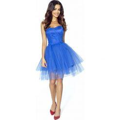 Sukienki: Chabrowa Sukienka Gorsetowa z Tiulu