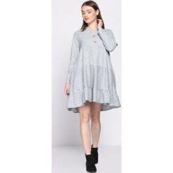 Szara Sukienka Rectangle. Szare sukienki marki Born2be, uniwersalny, z koszulowym kołnierzykiem, koszulowe. Za 59,99 zł.