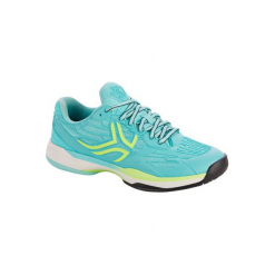 Buty tenisowe TS990 damskie. Niebieskie buty do tenisu damskie marki ARTENGO, z gumy. Za 199,99 zł.