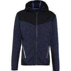 Superdry GYM TECH BLOCKED ZIPHOOD Bluza rozpinana midnight navy marl/black. Niebieskie kardigany męskie Superdry, m, z bawełny, sportowe. W wyprzedaży za 343,20 zł.