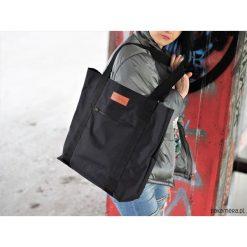 Duża torba Miss Szoperka MS1 - czarna. Czarne torebki klasyczne damskie Pakamera, z tkaniny, duże. Za 189,00 zł.