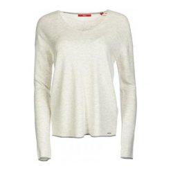 Swetry klasyczne damskie: S.Oliver Sweter Damski 38 Kremowy