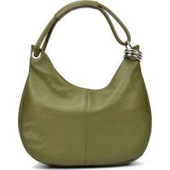 Torebki i plecaki damskie: Skórzana torebka w kolorze zielonym – (S)39 x (W)28 x (G)3 cm