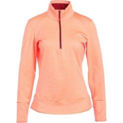 Salomon DISCOVERY  Koszulka sportowa fluo coral. Czerwone t-shirty damskie Salomon, xs, z elastanu. W wyprzedaży za 244,30 zł.