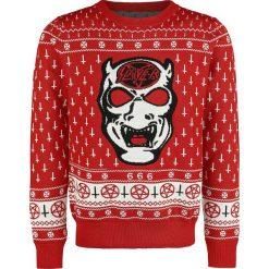 Swetry męskie: Slayer Holiday Sweater 2017 Sweter z dzianiny czerwony/biały