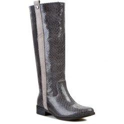 Kozaki KARINO - 1228/032-P Czarny/Szary. Fioletowe buty zimowe damskie marki Karino, ze skóry. Za 399,00 zł.