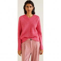 Mango - Sweter Brisbane. Różowe swetry klasyczne damskie Mango, l, z dzianiny. Za 139,90 zł.