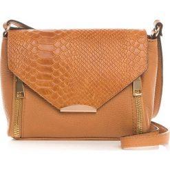 Torebki klasyczne damskie: Skórzana torebka w kolorze brązowym – 20 x 16 x 6 cm