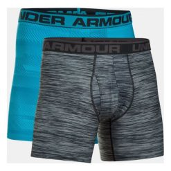 Majtki męskie: Under Armour Bokserki męskie Original 6in 2 Pack Novlt niebiesko-grafitowe r. M (1299994-929)