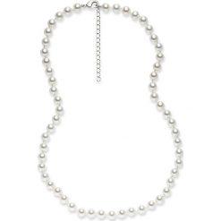 Naszyjniki damskie: Naszyjnik z pereł w kolorze białym – dł. 42 cm