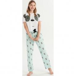 Dwuczęściowa piżama We bare bears - Biały. Białe piżamy damskie Sinsay, l. Za 69,99 zł.