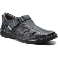 Sandały męskie skórzane: Sandały LASOCKI FOR MEN – MI18-276-05 Granatowy