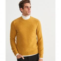Sweter - Żółty. Żółte swetry klasyczne męskie marki TOMMY HILFIGER, m. Za 119,99 zł.