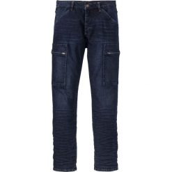 """Dżinsy ze stretchem Slim Fit Straight bonprix ciemnoniebieski """"stone used"""". Niebieskie jeansy męskie relaxed fit marki bonprix. Za 79,99 zł."""