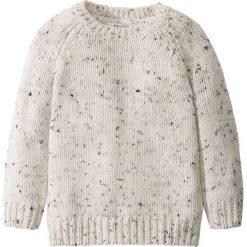 Swetry męskie: Sweter dzianinowy bonprix jasnoszary melanż