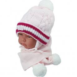 Czapka niemowlęca z szalikiem CZ+S 002E. Szare czapeczki niemowlęce Proman. Za 38,76 zł.