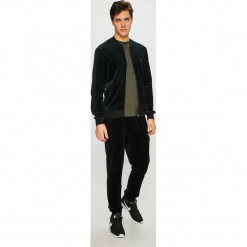 Emporio Armani - Bluza. Czarne bluzy męskie rozpinane Emporio Armani, l, z bawełny, bez kaptura. Za 549,90 zł.