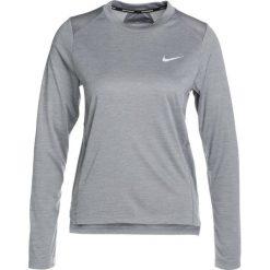 Nike Performance DRY MILER  Koszulka sportowa gunsmoke/heather/reflective silver. Szare topy sportowe damskie marki Nike Performance, xs, z materiału, z długim rękawem. Za 149,00 zł.
