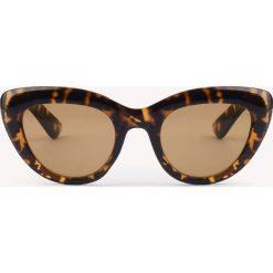 NA-KD Accessories Okulary przeciwsłoneczne kocie oczy - Black,Brown,Multicolor. Brązowe okulary przeciwsłoneczne damskie NA-KD Accessories. Za 80,95 zł.