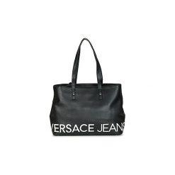 Torby shopper Versace Jeans  NEDOVA. Czarne shopper bag damskie Versace Jeans, z jeansu. Za 649,00 zł.
