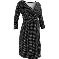 Sukienki ciążowe: Sukienka dla ciężarnych i karmiących z dżerseju bonprix czarno-ecru w groszki
