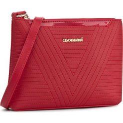Torebka MONNARI - BAGA022-005 Red. Czerwone listonoszki damskie Monnari, ze skóry ekologicznej. W wyprzedaży za 119,00 zł.