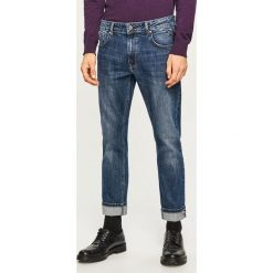 Jeansy slim fit - Selvedge Denim - Granatowy. Niebieskie jeansy męskie relaxed fit Reserved. Za 169,99 zł.