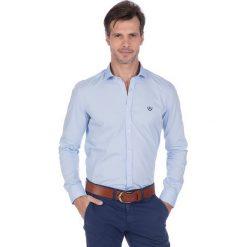"""Koszule męskie na spinki: Koszula """"Marker"""" w kolorze błękitnym"""