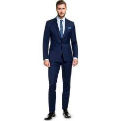 Garnitur MARCUS GXGE100010. Niebieskie garnitury marki Bertoni, z elastanu. Za 1178,00 zł.