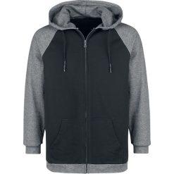 Forplay Raglan Contrast Zip Hoody Bluza z kapturem rozpinana czarny/szary. Brązowe bluzy męskie rozpinane marki SOLOGNAC, m, z elastanu. Za 144,90 zł.