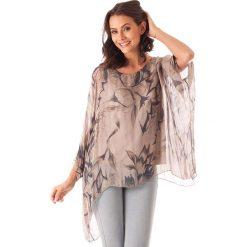 Bluzki asymetryczne: Koszulka w kolorze szarobrązowym