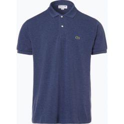 Lacoste - Męska koszulka polo, niebieski. Szare koszulki polo marki Lacoste, z bawełny. Za 299,95 zł.